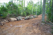 Need roads or driveways built?  Contact Blackburn Excavating Ltd in Salmon Arm, BC